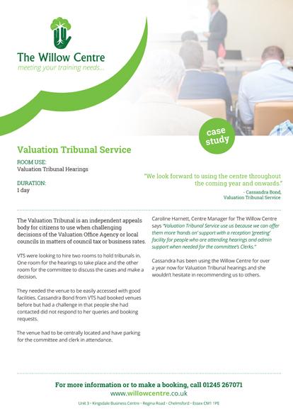Valuation Tribunal case study